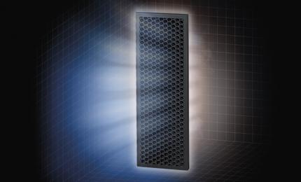 Le filtre à charbon actif réduit les odeurs et les composés organiques volatils (COV)