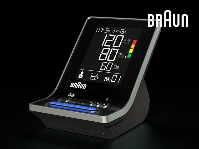 das neueste Oberarm-Blutdruckmessgerät von Braun mit Bluetooth-Verbindung