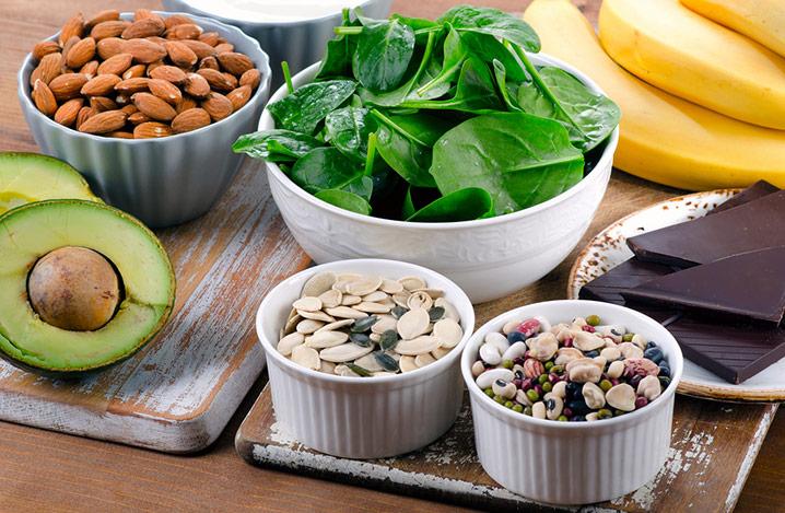 Lebensmittel mit hohem Magnesiumgehalt. Gesunde Ernährung