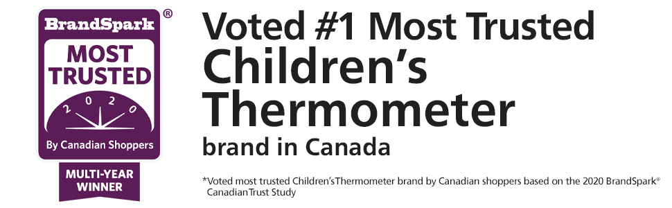 Braun voted No.1 Most Trusted Children's Thermometer Brand in Canada EN