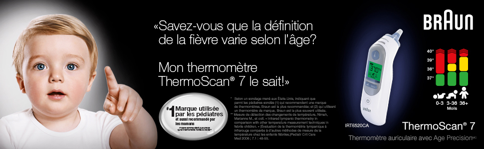 ThermoScan® 7 with Age Precision & Colour-Coded Fever Guidance