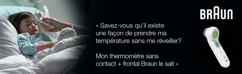 Braun NTF3000CAV1 No Touch + Forehead Thermometer (Costco Exclusive)