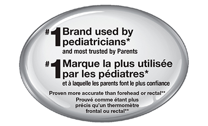 Braun is #1 brand used by pediatricians and also recommended by parents