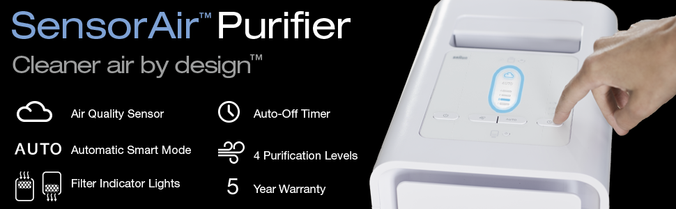Braun SensorAir™ Air Purifier<br>Cleaner air by design™