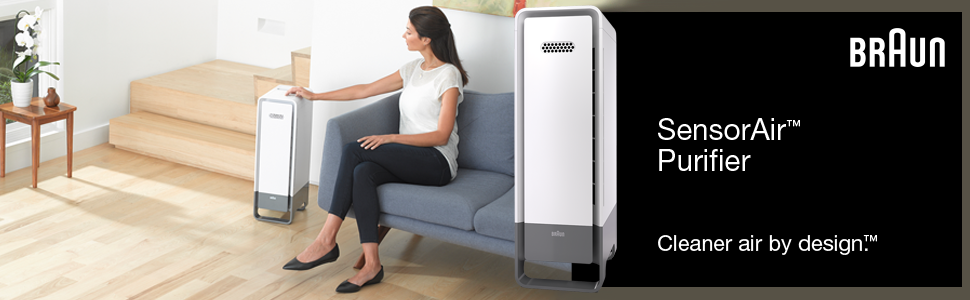 Braun BFD104W SensorAir™ Air Purifier (White) High Performance Diagnostic Filtration System