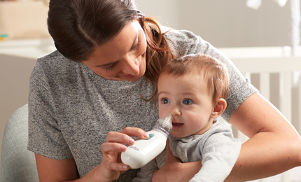 Braun BNA100CA Electric Nasal Aspirator can be used in any directions