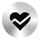 Srebrna ikona wykrywania nieregularnego rytmu serca