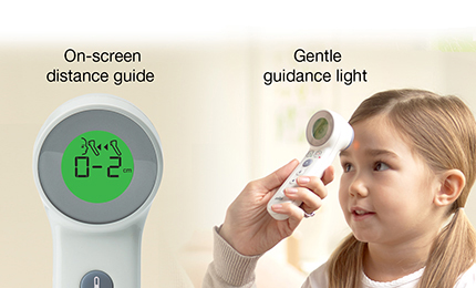 Braun BNT400CA's unique on-screen positioning system helps provide the most accurate readings