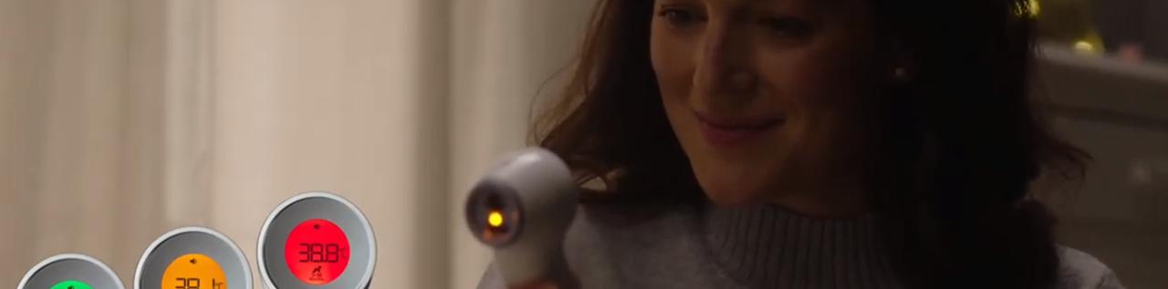 Vidéo thermomètre sans contact + frontal avec Age Precision