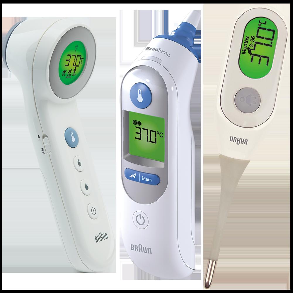Thermomètres BNT400CA, IRT6520CA & PRT2000CA Braun