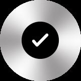 icone de la connexion facile sur cercle argenté